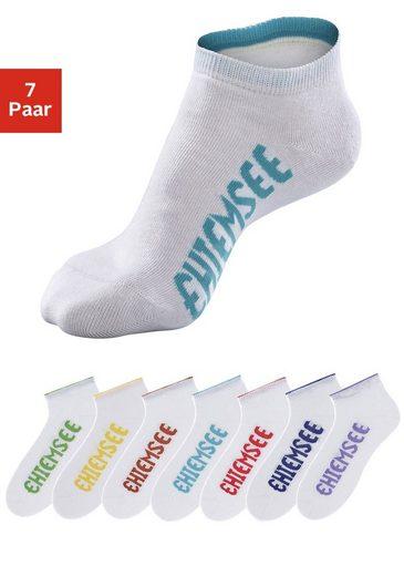 Chiemsee Sneakersocken (7-Paar) mit farbigen Logos
