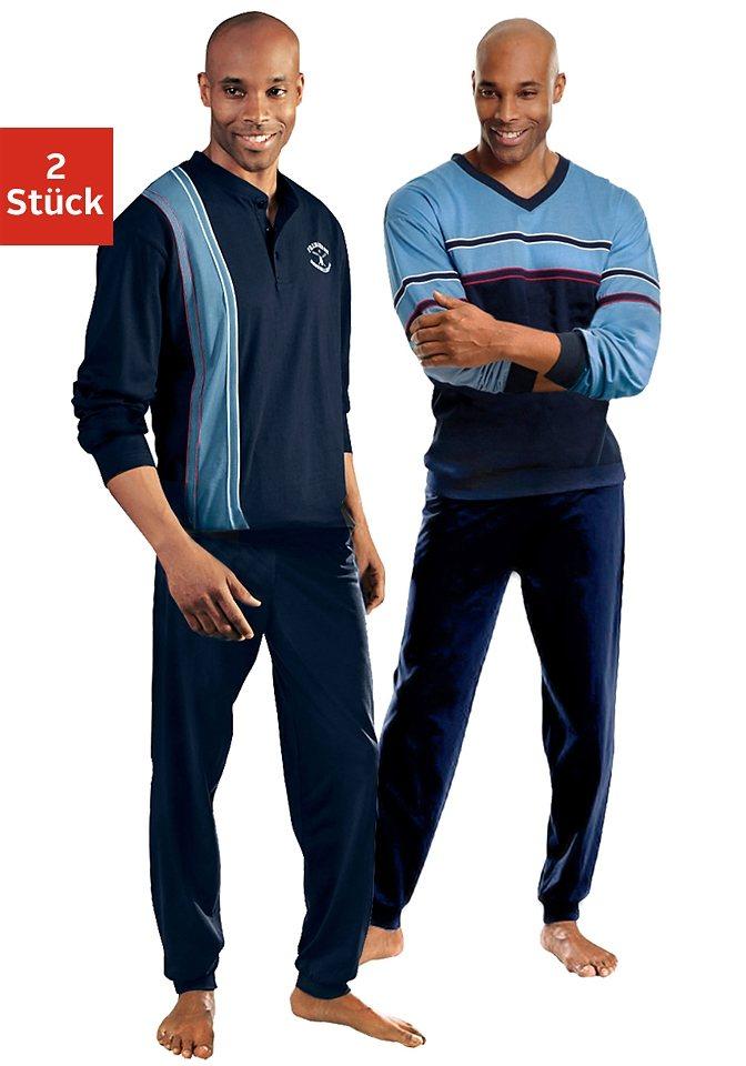 Le Jogger, Pyjamas (2 Stück), lang in blau + marine