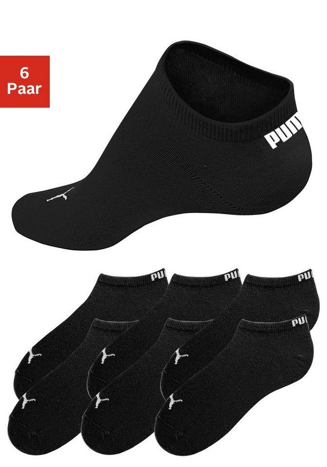 PUMA Sportliche Füßlinge (6 Paar) in klassischer Form in 6x schwarz