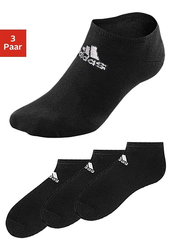 Füßlinge, Adidas (3 Paar) in 3x schwarz