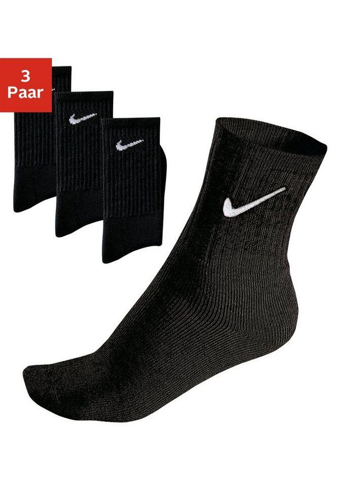Nike Klassische Sportsocken (3 Paar) mit Frottee in 3x schwarz