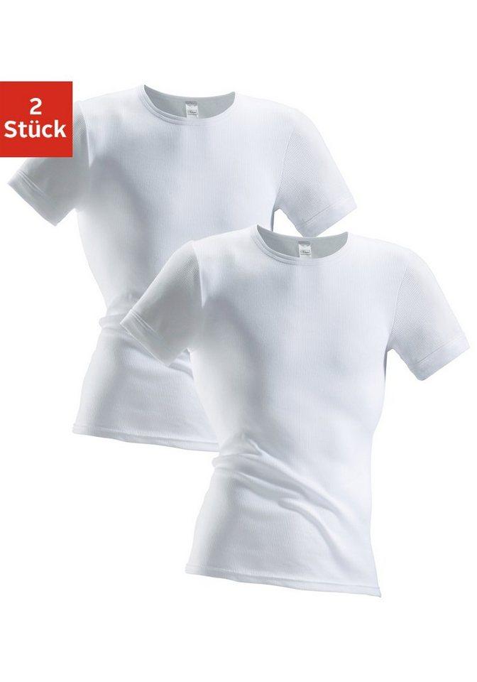 clipper exclusive - , Unterhemd in T-Shirt Form (2 Stück), spürbar weich und glatt
