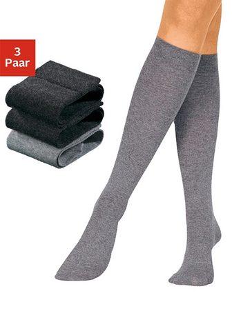 Чулки до колена (3 пар)
