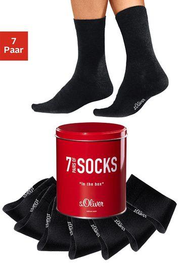 s.Oliver Bodywear Businesssocken (Dose, 7-Paar)