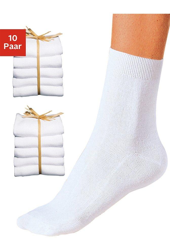 GO IN Basic-Socken (10 Paar) ganz unifarben in 10x weiß