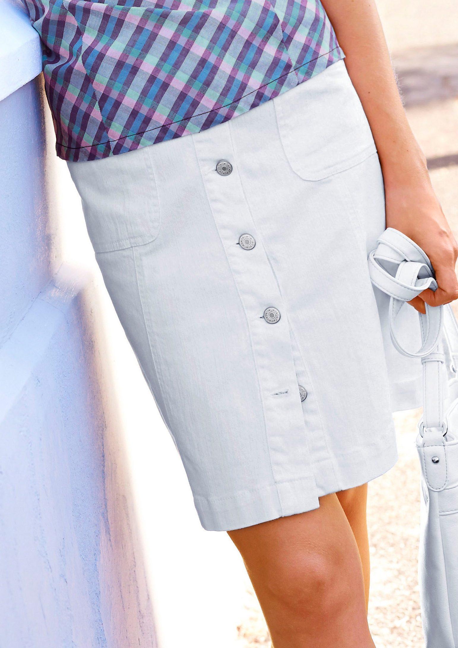 Knopfverschluss Aniston Casual Mit Jeansrock Aniston zqVGUSpM