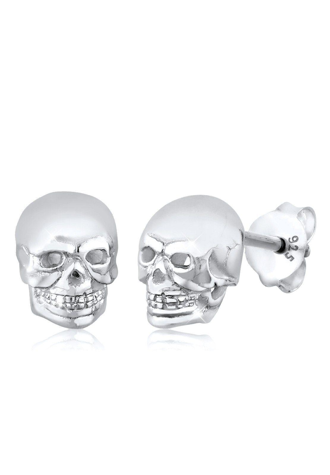 Elli Ohrringe »Totenkopf Rock Gothic Trend 925 Silber«