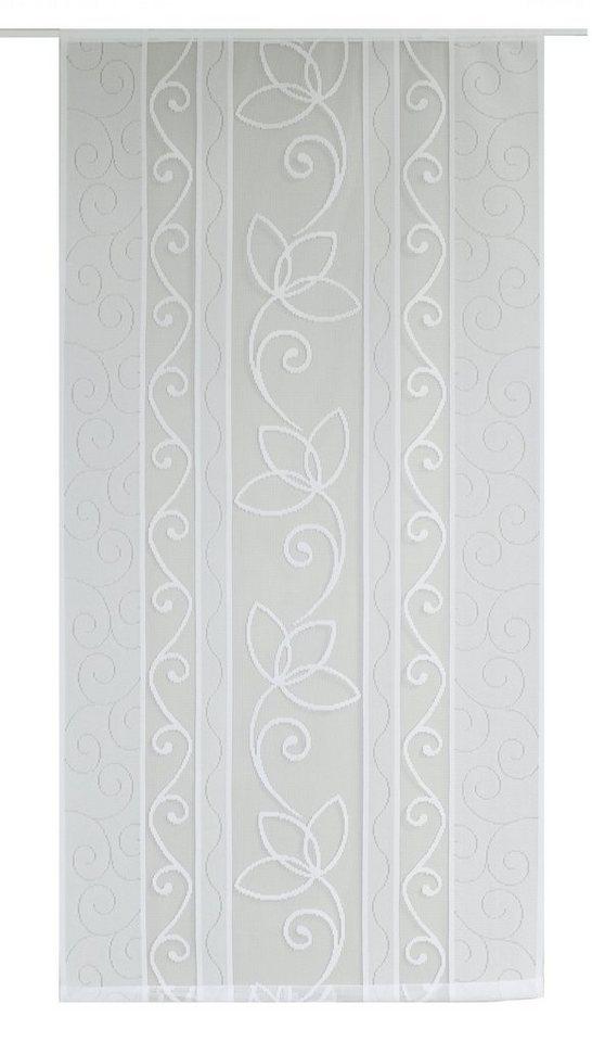 Schiebegardine, VHG, »Dana« (1 Stück mit Zubehör) in weiß