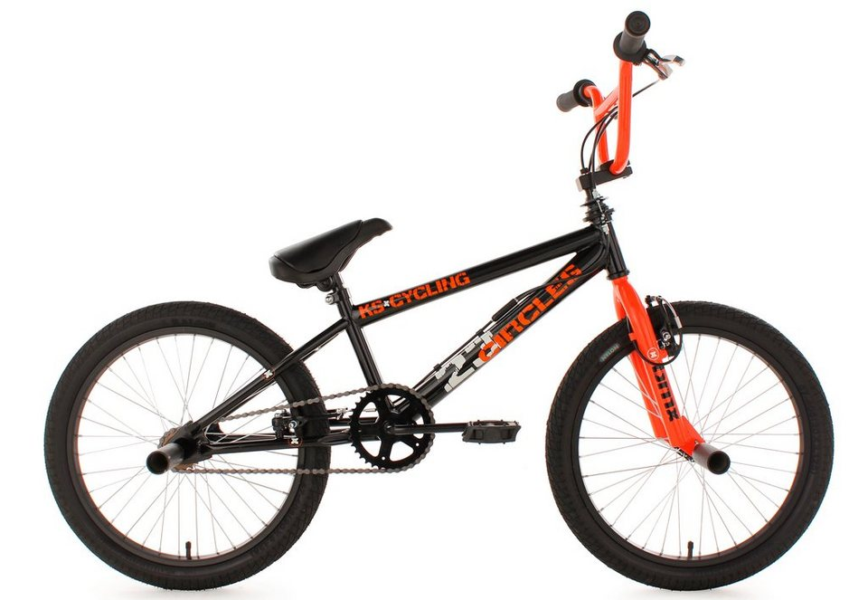 bmx freestyle 20 zoll orange circles ks cycling. Black Bedroom Furniture Sets. Home Design Ideas