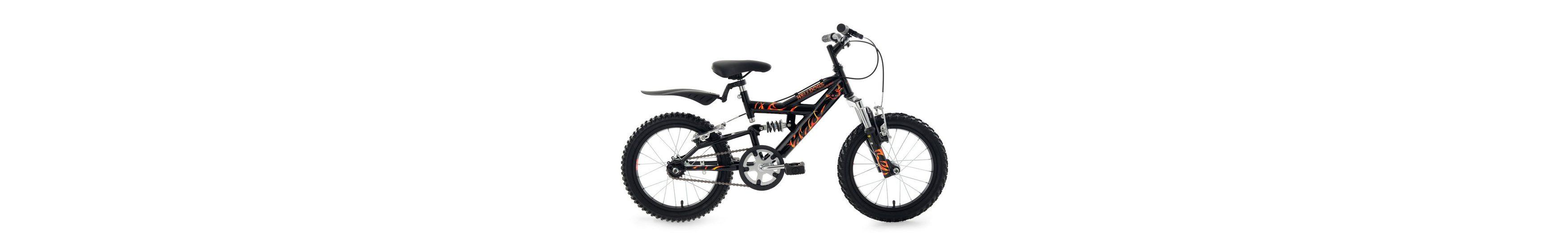 Kinderfahrrad, MTB, KS Cycling, »Helldogs«, 16 Zoll, schwarz, ohne Schaltung, Rücktritt