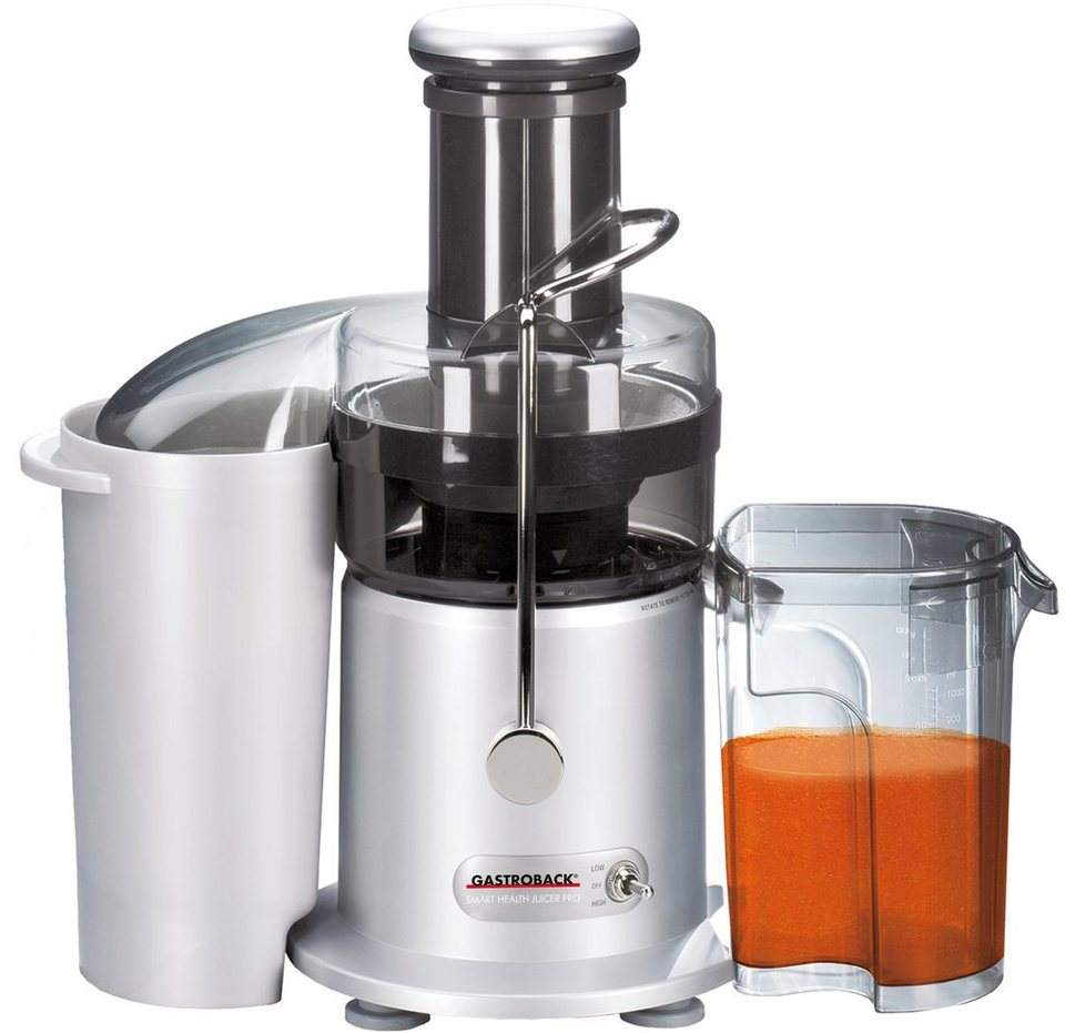 Gastroback Entsafter Smart Health Juicer Pro 40137, 950 Watt in edelstahl