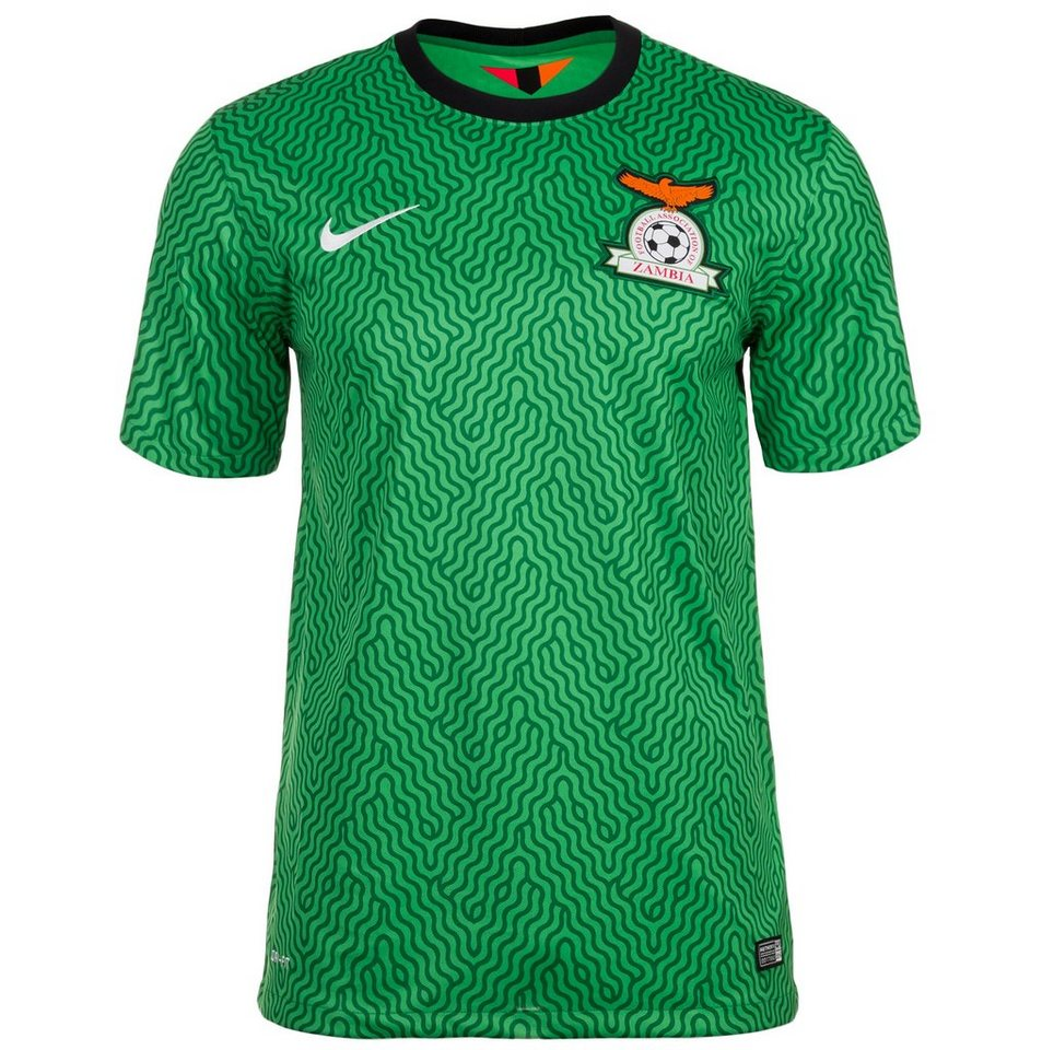 NIKE Sambia Trikot Home Stadium Herren 2014/2015 in grün / schwarz