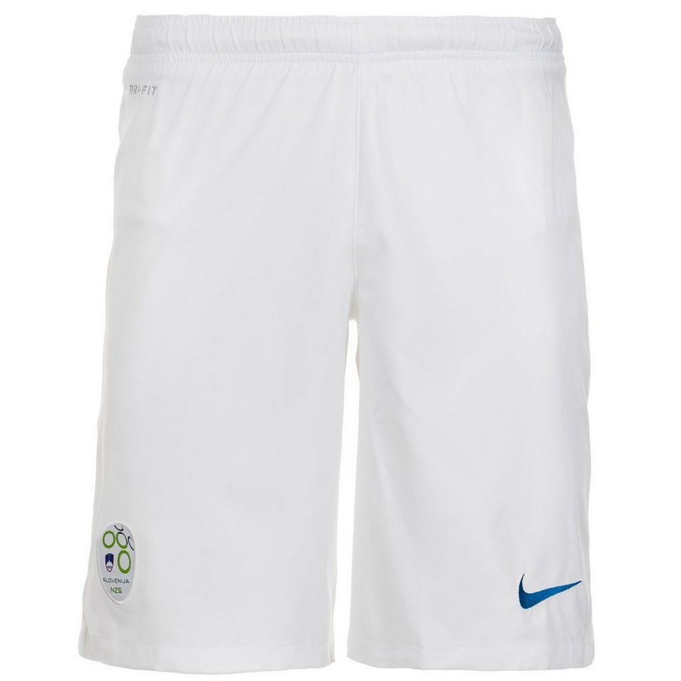 NIKE Slowenien Short Home Stadium 2014/2015 Herren in weiß / blau