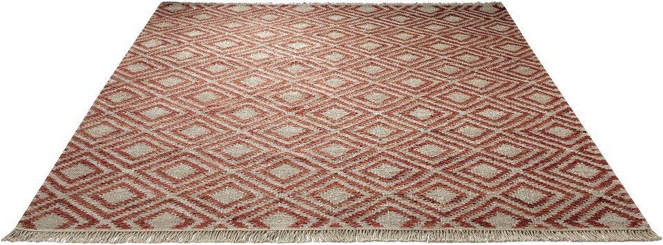 Teppich, Esprit, »Simple«, handgewebt in rot