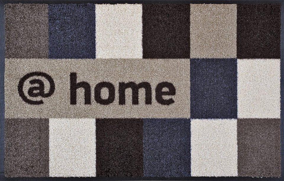 Fußmatte, wash+dry by Kleen-Tex, »@home brownish«, rutschhemmend beschichtet in beige-grau