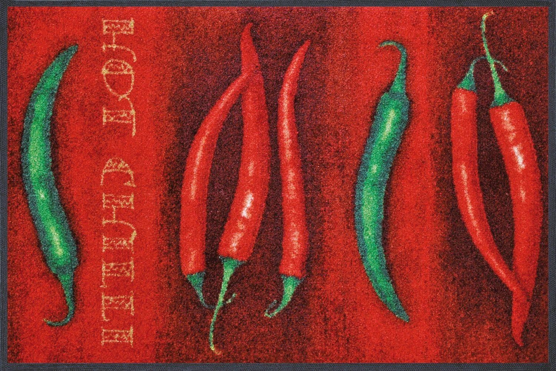 Fußmatte »Hot Chili«, wash+dry by Kleen-Tex, rechteckig, Höhe 7 mm
