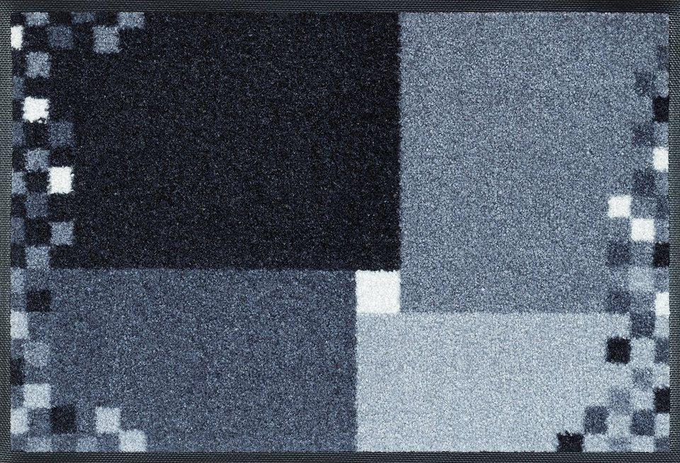 Fußmatte, wash+dry by Kleen-Tex, »Mosaico grau«, rutschhemmend beschichtet in grau