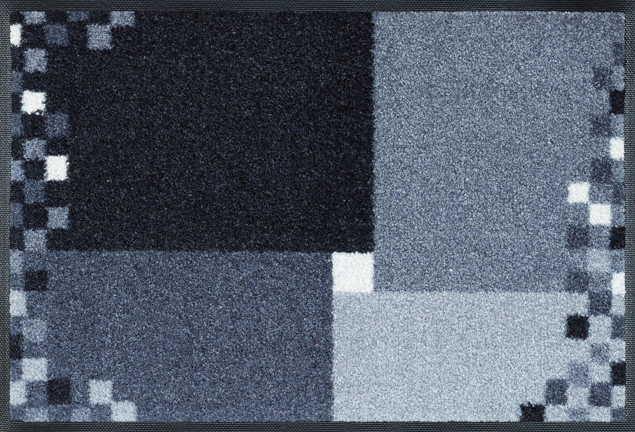 Fußmatte »Mosaico grau«, wash+dry by Kleen-Tex, rechteckig, Höhe 9 mm