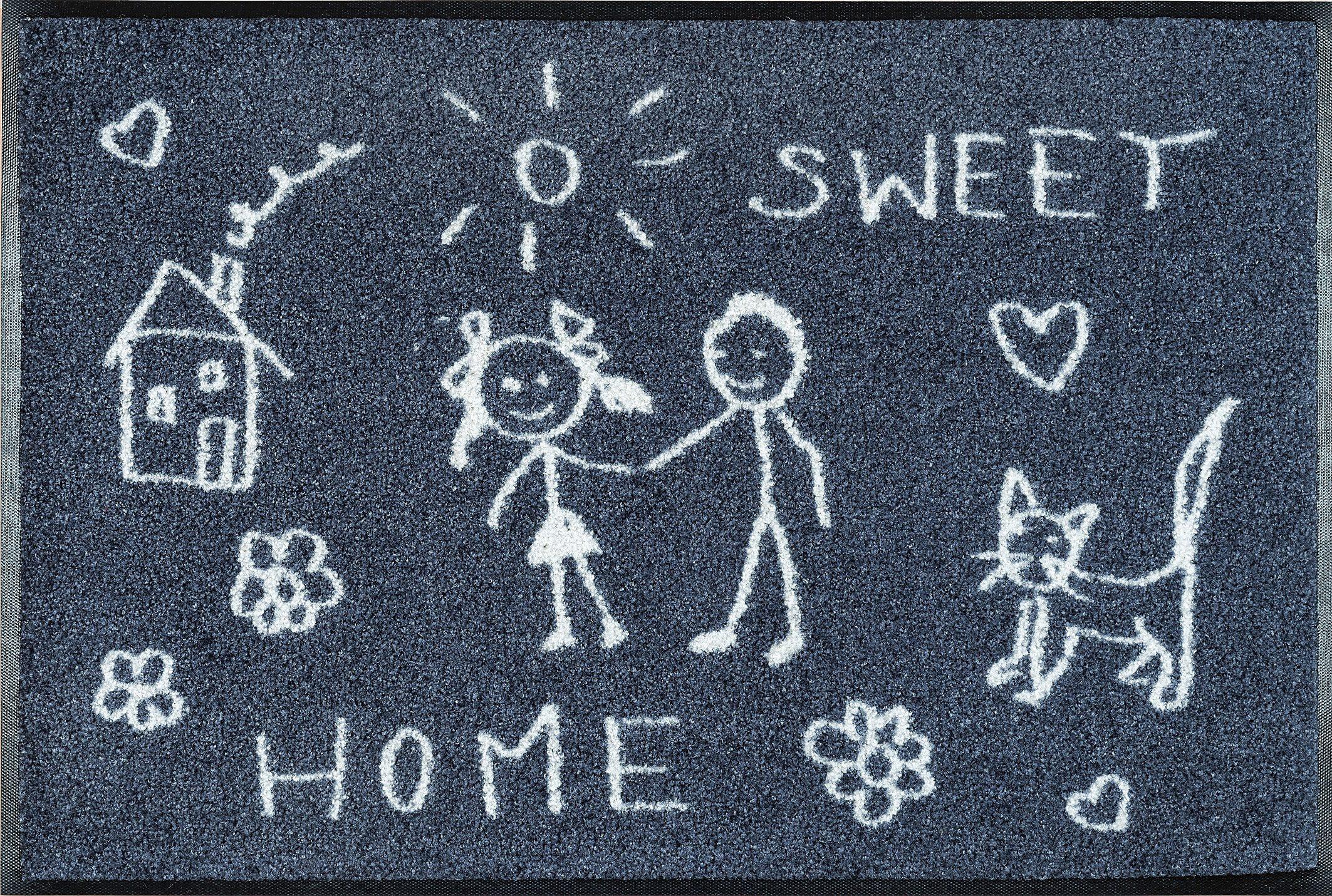 Fußmatte »Sweet Home«, wash+dry by Kleen-Tex, rechteckig, Höhe 9 mm