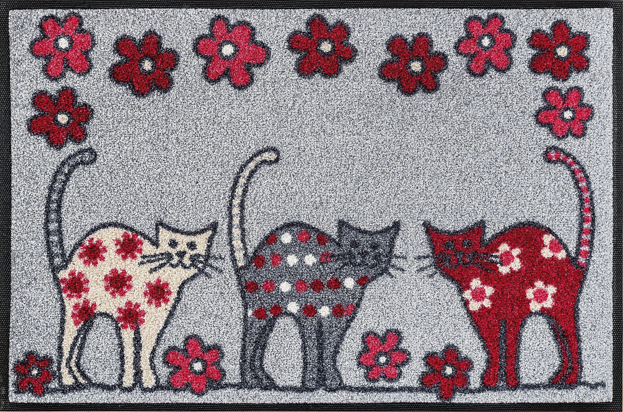 Fußmatte »Cat Parade«, wash+dry by Kleen-Tex, rechteckig, Höhe 7 mm