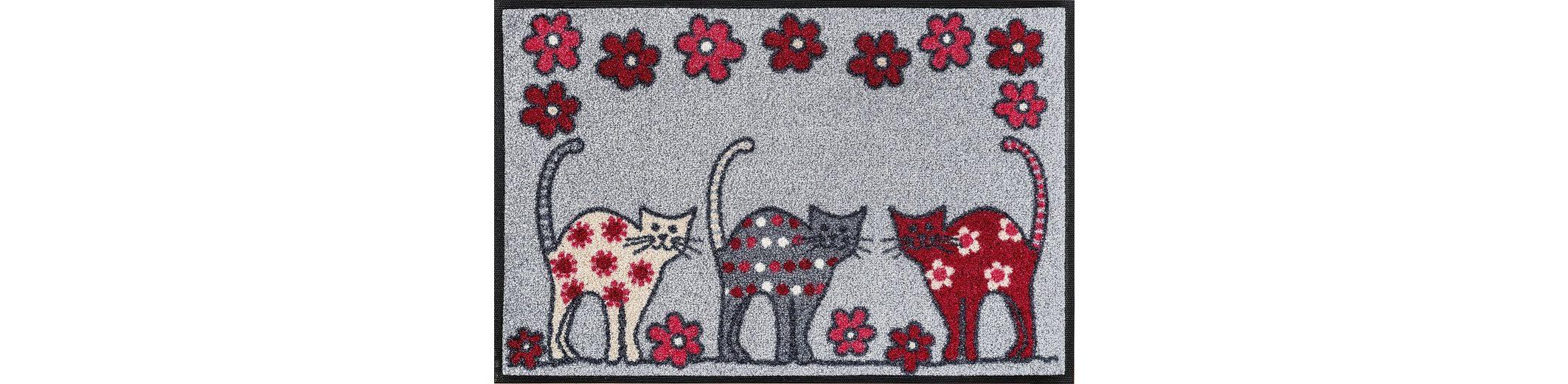 Fußmatte, wash+dry by Kleen-Tex, »Cat Parade«, rutschhemmend beschichtet