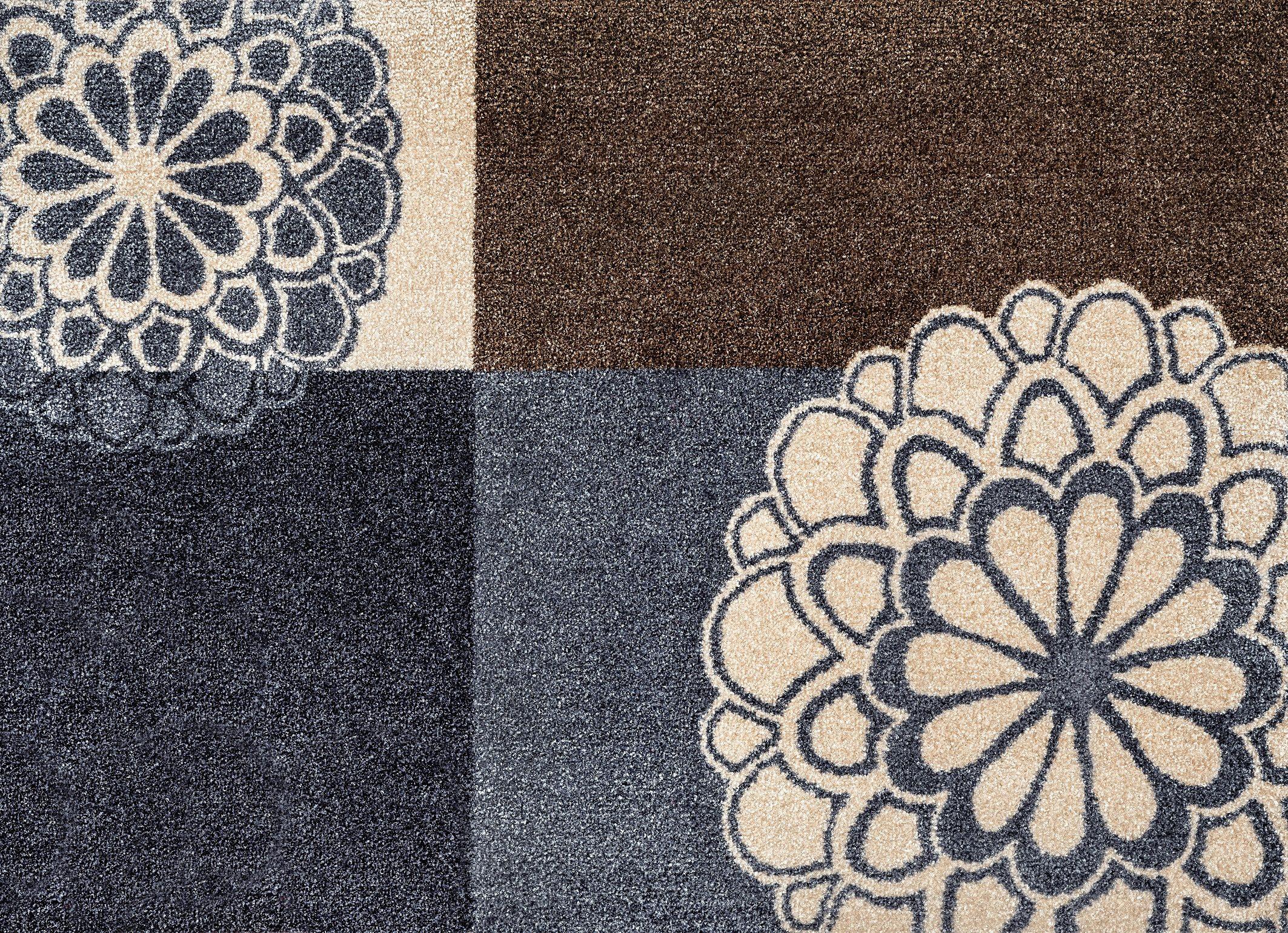 Fußmatte »Rondo grey«, wash+dry by Kleen-Tex, rechteckig, Höhe 7 mm