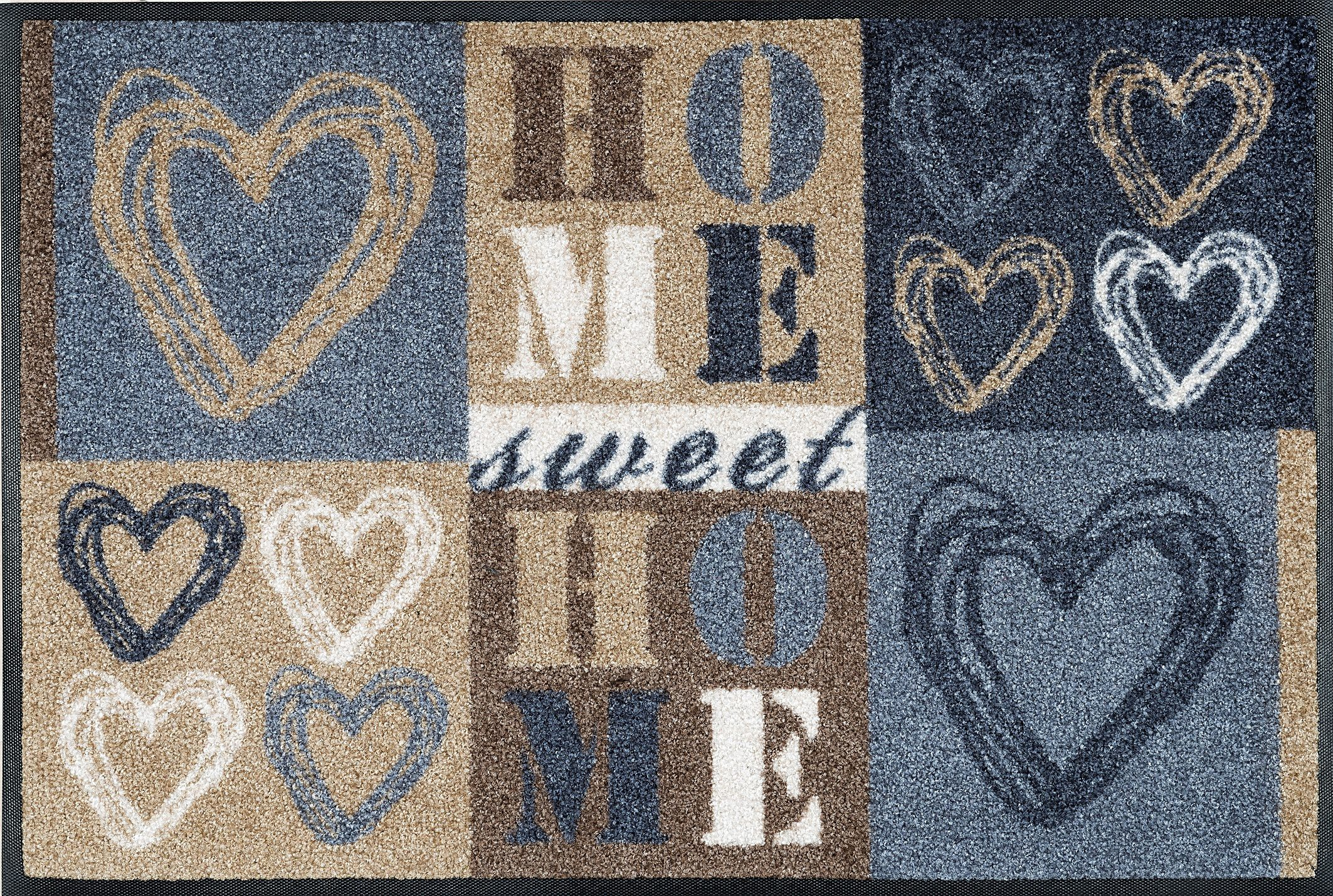 Fußmatte »Lovely Home«, wash+dry by Kleen-Tex, rechteckig, Höhe 9 mm