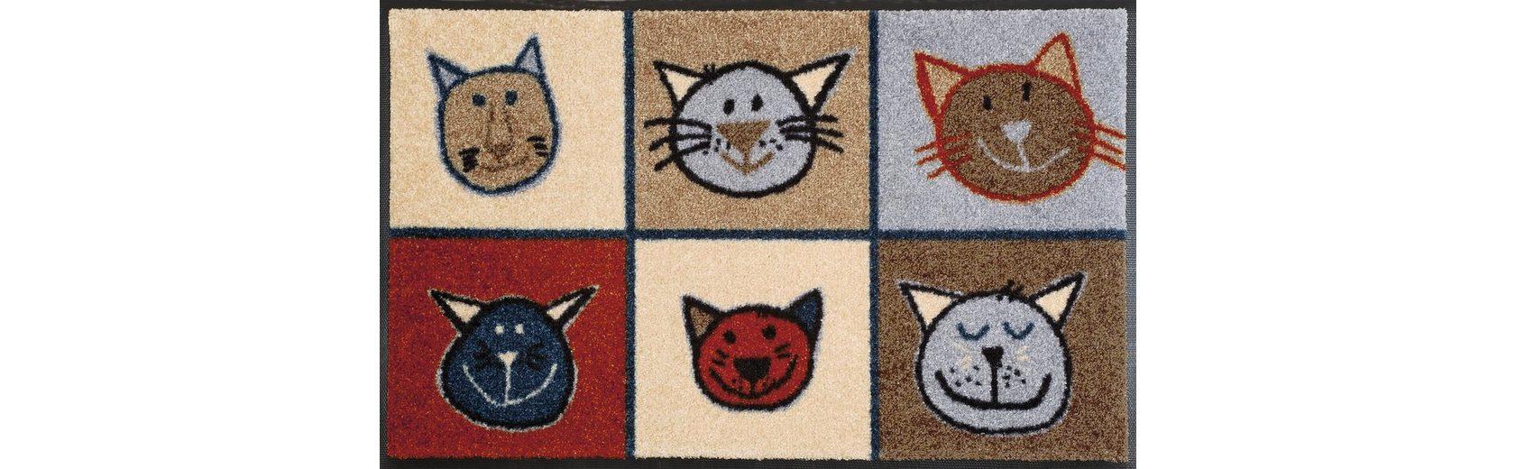 Fußmatte, wash+dry by Kleen-Tex, »Miau Miau«, rutschhemmend beschichtet
