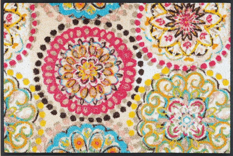 Fußmatte »Vintage Fresko«, WASH + DRY BY KLEEN-TEX, rechteckig, Höhe 7 mm in bunt