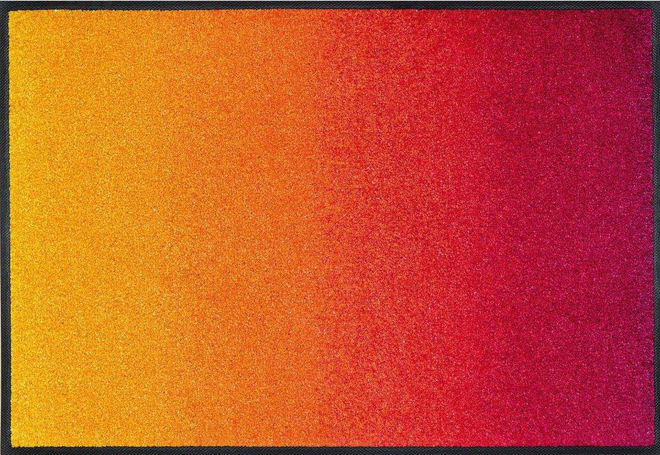Fußmatte, wash+dry by Kleen-Tex, »Red Rainbow«, rutschhemmend beschichtet in multicolor