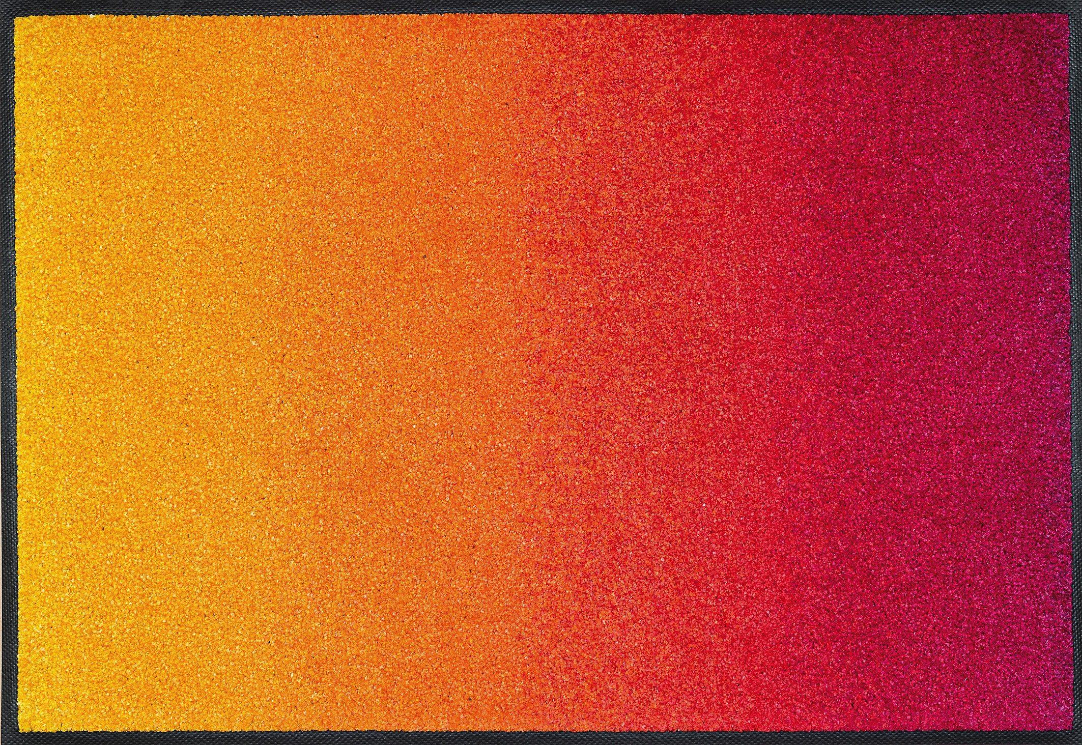 Fußmatte »Red Rainbow«, wash+dry by Kleen-Tex, rechteckig, Höhe 7 mm
