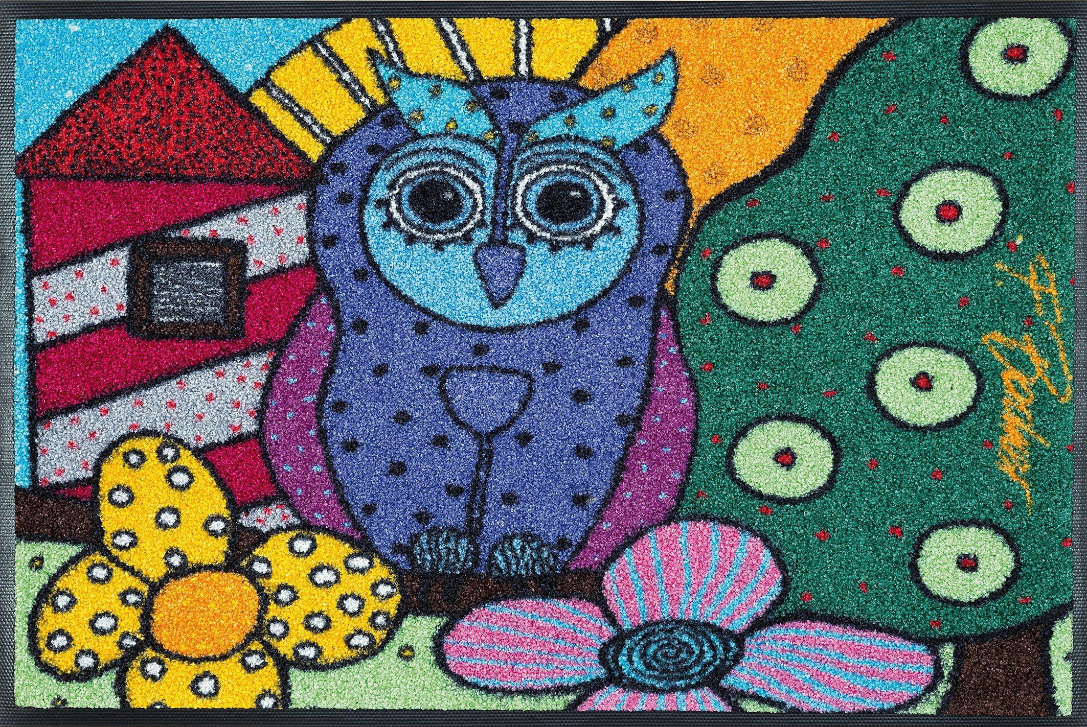 Fußmatte »Wisdom«, wash+dry by Kleen-Tex, rechteckig, Höhe 9 mm, Original Ulrike Völkl-Fischer Design