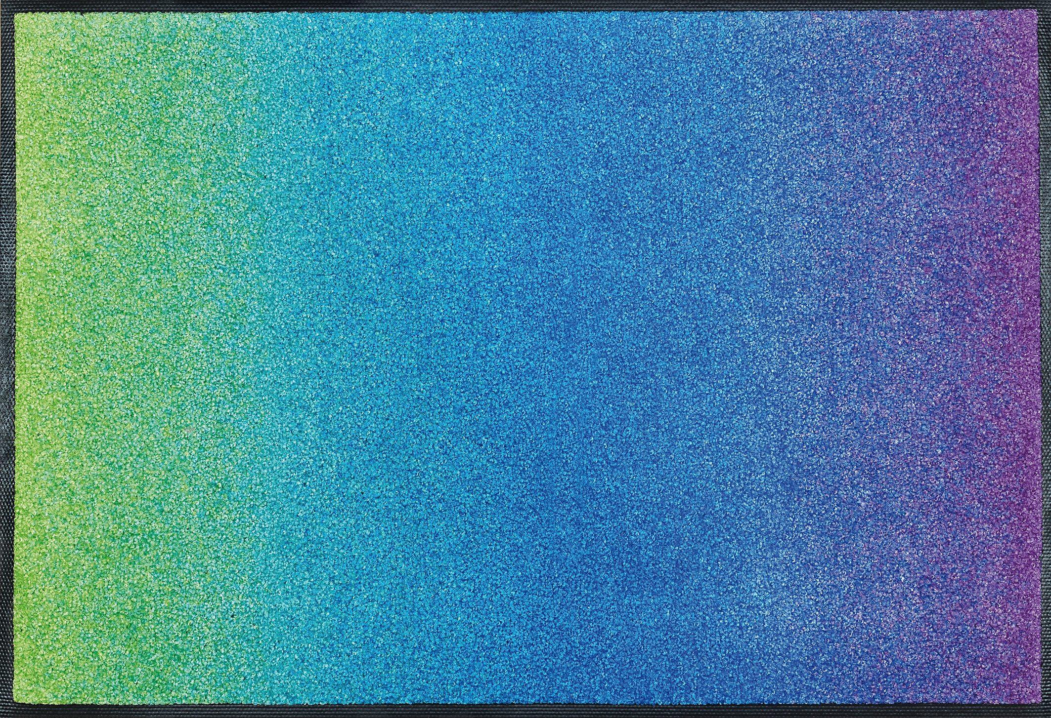 Fußmatte »Blue Rainbow«, wash+dry by Kleen-Tex, rechteckig, Höhe 9 mm
