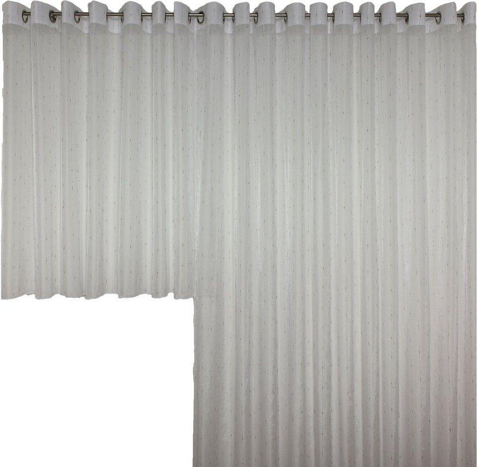 Vorhang, Wirth, »Patricia«, mit Ösen (1 Stück) in weiß