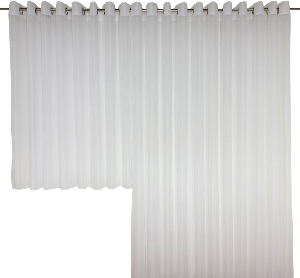 Vorhang, Wirth, »SALLY«, mit Ösen (1 Stück) in weiß