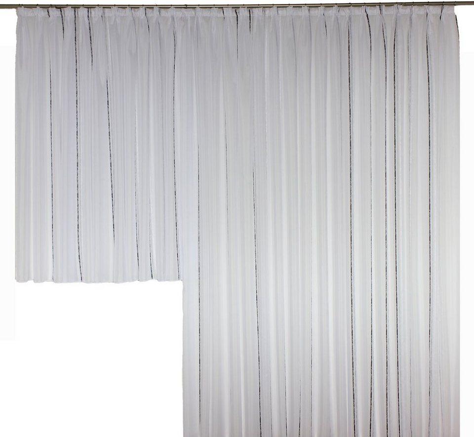 Vorhang, Wirth, »Chloé« (1 Stück), nach Maß in grau