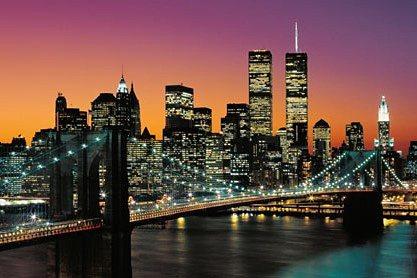 Wandtapete, Home affaire, »Manhattan«, 366/254 cm in bunt