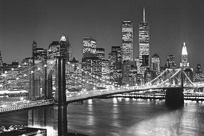 Wandtapete, Home affaire, »Brooklyn Bridge«, 366/254 cm in grau