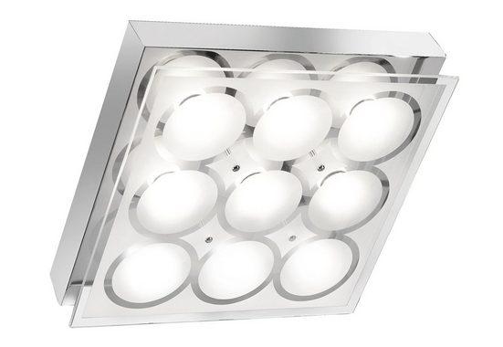 Paul Neuhaus Deckenleuchte »AFIDA 2.0«, quadratische Deckenleuchte mit XMO-LED-Leuchtmittel, Gläser teilsatiniert, warmweiße Lichtfarbe