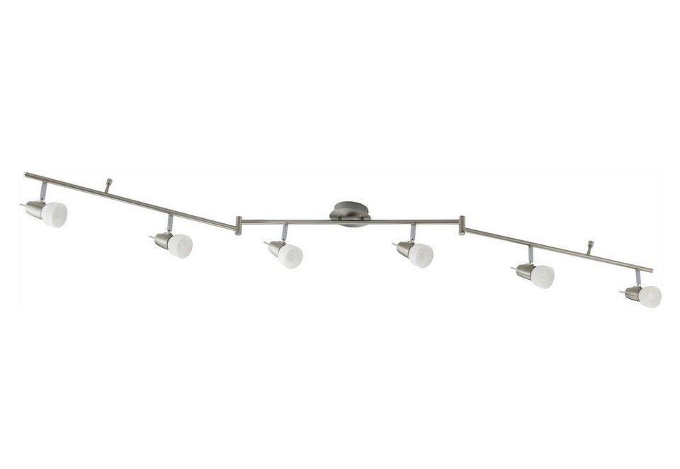 LED-Deckenlampe, Leuchten Direkt (6flg.) in silber