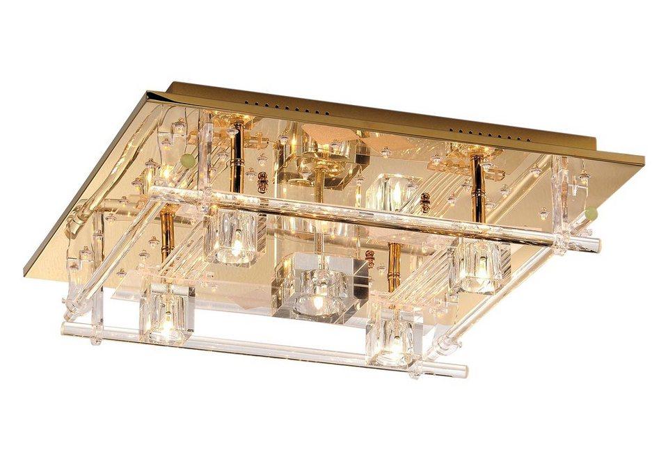 LED-Deckenlampe in messingfarben
