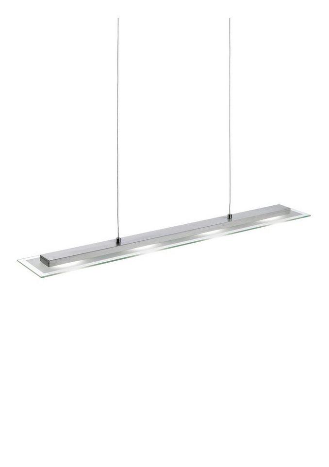 LED-Pendellampe, Leuchten Direkt (4flg.) in silber