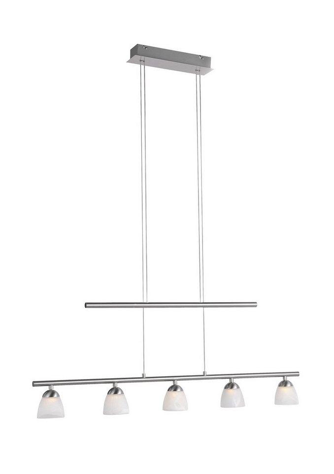 LED-Pendellampe, Leuchten Direkt (5flg.) in silber