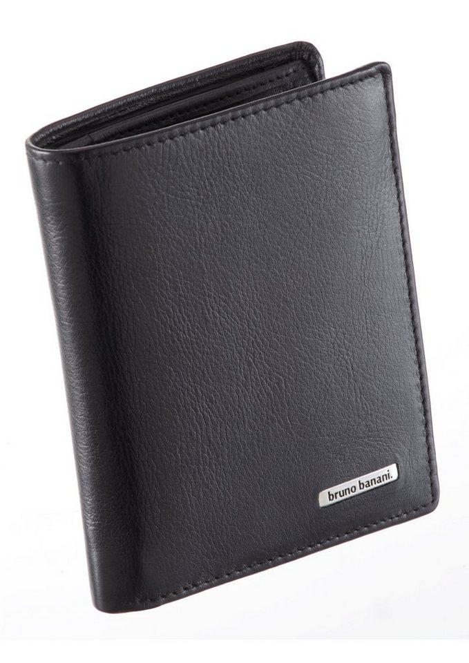Bruno Banani Datenschutz Geldbörse mit RFID Blocker in schwarz