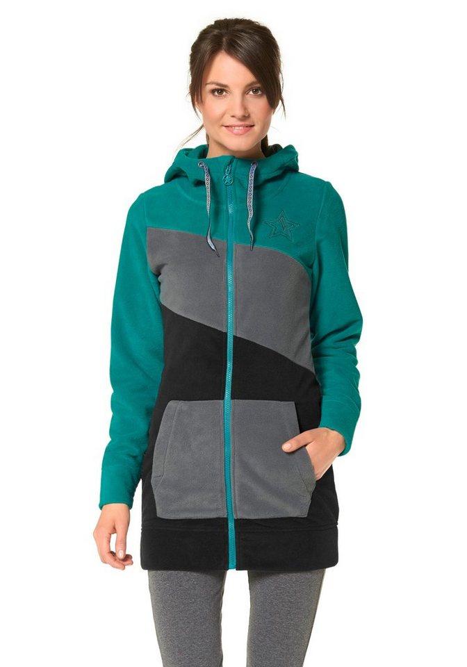 Ocean Sportswear Fleecejacke in Schwarz-Petrol