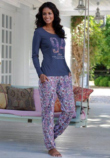 s.Oliver Bodywear Pyjama, mit mehrfarbigem Paisleymuster