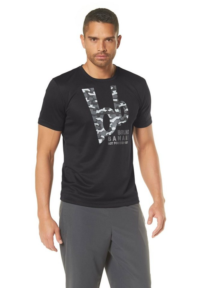 Bruno Banani Funktions-T-Shirt in Schwarz