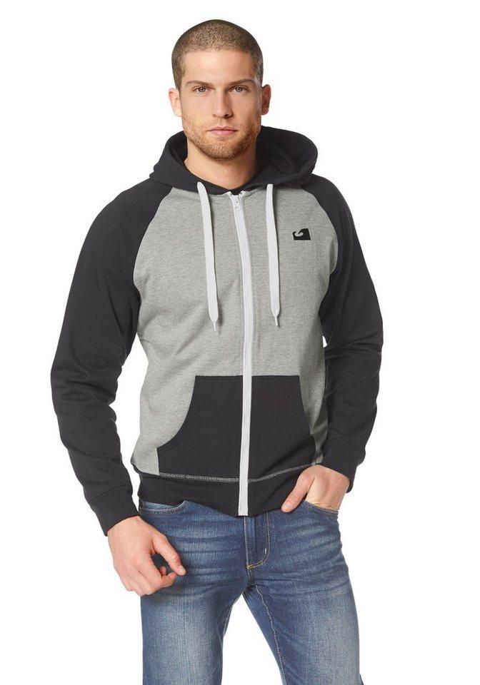 Ocean Sportswear Kapuzensweatjacke in Grau-Schwarz