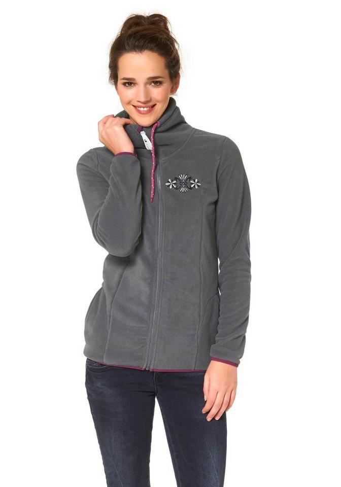 Ocean Sportswear Fleecejacke in Grau