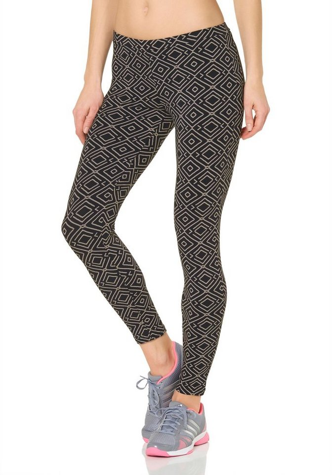 Billabong LILA Leggings in Schwarz-Weiß